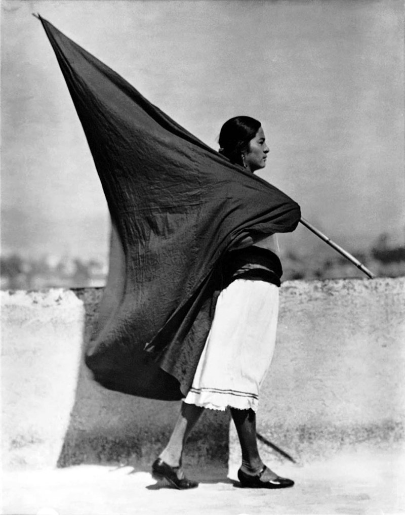 Tina Modotti - Woman with Flag
