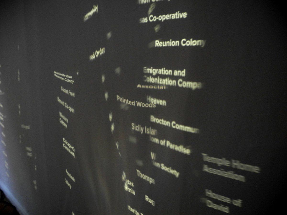 Exhibition view: Utopia Generator