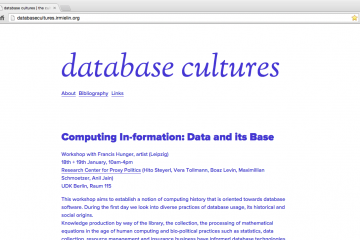 Database Cultures